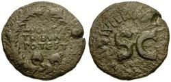 Ancient Coins - Augustus Æ Dupondius / Wreath