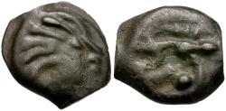 Ancient Coins - Ancient France. Celtic Gaul. Senones Tribe Potin / Boar