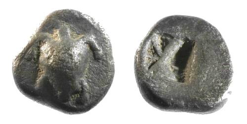 Ancient Coins - VF/VF Aegina AR Obol / Turtle