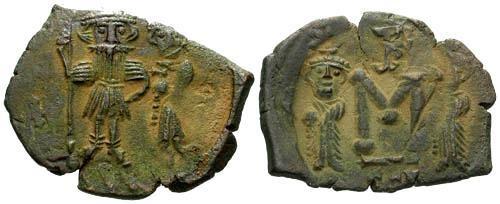 Ancient Coins - VF/VF Constans II Follis Syracuse Mint