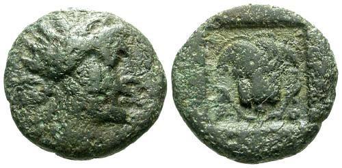 Ancient Coins - F/F Caria Rhodus AE12 / Rose