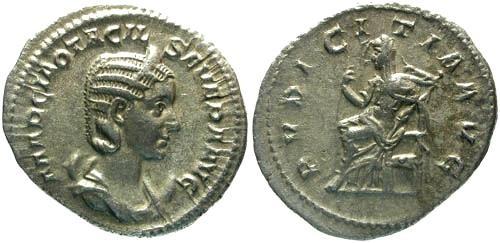 Ancient Coins - VF/aVF Otacilia Severa AR Antoninianus / Pudicitia