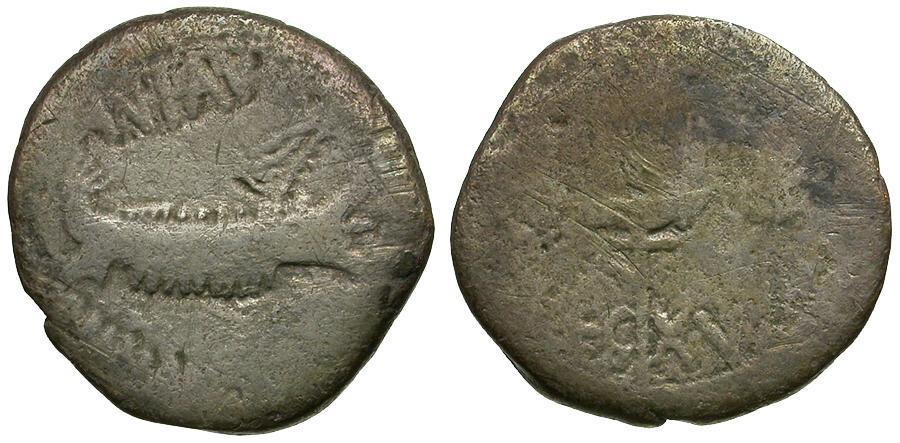 Ancient Coins - Mark Antony. Legionary AR Denarius / Legion XV