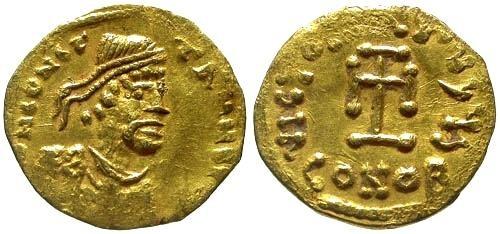 Ancient Coins - VF/VF Constans II AV Tremissis / Cross