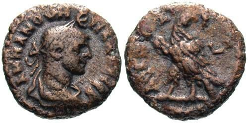 Ancient Coins - VF/aVF Numerian AE Tetradrachm of Alexandria / Eagle