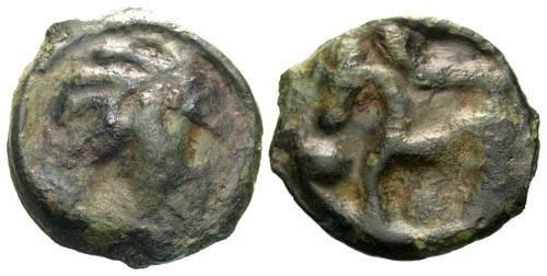 Ancient Coins - F/F Senones tribe potin / Horse