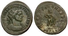 Ancient Coins - VF/aVF Diocletian Æ Antoninianus / Hercules