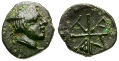 Ancient Coins - Macedon. Tragilos Æ9 / Hermes