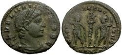 Ancient Coins - Delmatius as Caesar Æ Follis / Soldiers and Standard