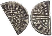 World Coins - Great Britain. Plantagenet Dynasty. Henry III (1216-1272) AR Penny. Short Cross type, class VIIb4 / Cut for Change