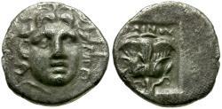 Ancient Coins - Islands of Caria. Rhodos AR Plinthophoric Hemidrachm / Rose