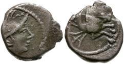 Ancient Coins - Ancient France. Celtic Gaul Allobroges Tribe AR Quinarius / Hippocamp