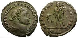 Ancient Coins - EF/VF Maximinus II Daia as Augustus Æ Follis / Genius