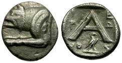 Ancient Coins - Argolis. Argos AR Hemidrachm / Wolf