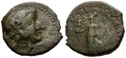 Ancient Coins - Coele Syria.  Chalkis.  Lysanias. son of Ptolemy Æ19 / Athena