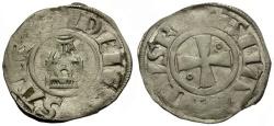 World Coins - Jerusalem.  Amaury AR Denier / Church of the Holy Sepulchre