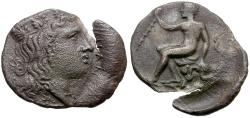 Ancient Coins - Sicily. Himera. Thermae Imerenses AR Litra / Herakles seated