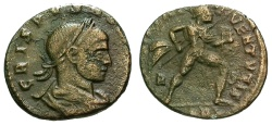 Ancient Coins - gF+/gF+ Crispus Caesar Æ3 / Mars