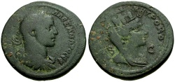 Ancient Coins - Severus Alexander, Syria, Seleucia and Pieria, Antioch Æ31 / Bust of Tyche