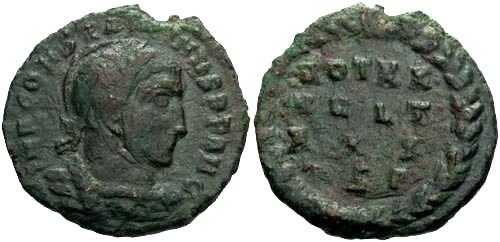 Ancient Coins - aVF/aVF Constantine the Great Votive / R4