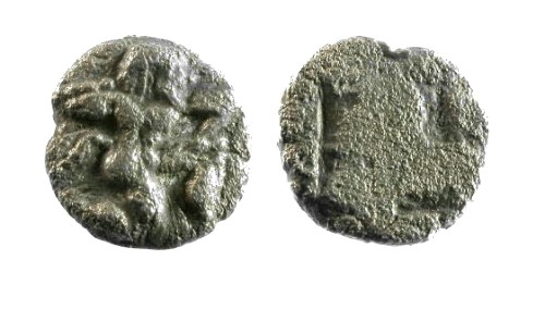 Ancient Coins - F/F Thasos Islands off Thrace AR Obol / Satyr