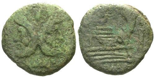 Ancient Coins - gF/gF Roman Republic AS / Victory Flying right