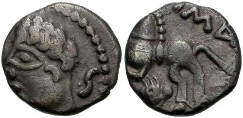 Ancient Coins - VF/VF Leuci Tribe AR Unit / Horse and Dolphin