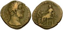 Commodus Æ Sestertius / Salus Seated