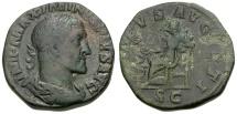 Maximinus I Æ Sestertius / Salus Seated