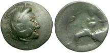 Ancient Coins - Danubian Celts. Imitating Alexander III the Great AR Drachm