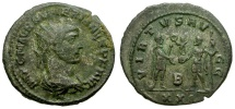 Ancient Coins - Numerian Silvered Antoninianus / Emperor Receiving Victory from Jupiter