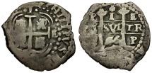 Bolivia. Philip IV AR 1 Real Cob
