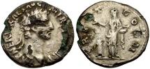 Ancient Coins - Nerva fouree Denarius / Muled reverse from Aelius