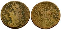 World Coins - Ireland. James II Æ 1/2 Crown / Gunmoney