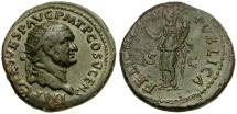 Ancient Coins - Vespasian Æ Dupondius / Felicitas