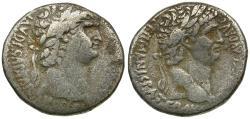 Ancient Coins - Nero (AD 54-68) with Divus Claudius. Seleucis and Pieria. Antioch AR Tetradrachm