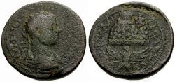 Ancient Coins - Volusian, Judaea, Samaria Neapolis Æ25 / Lindgren Plate Coin