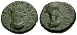 Ancient Coins - VF/VF Bosporian Kings, Rhescuporis V Æ Stater / Constantine
