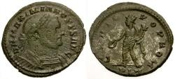 Ancient Coins - VF/VF Maximianus as Senior Augustus Æ Follis / Genius