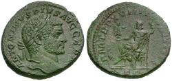 Ancient Coins - Caracalla (AD 198-217) Æ AS / Jupiter