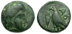 Ancient Coins - Troas Abydos Æ10 / Eagle