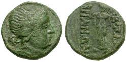 Ancient Coins - Thrace.  Mesembria Æ18 / Athena