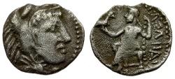 Ancient Coins - Kings of Macedon. Alexander III the Great AR Hemiobol / Zeus Enthroned