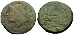 Ancient Coins - 217-215 BC - Roman Republic  Anonymous Æ Uncia