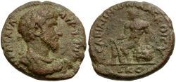Ancient Coins - Lucius Verus. Decapolis. Abila Æ26 / Herakles Seated