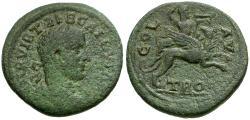 Ancient Coins - Trebonianus Gallus. Troas. Alexandria Æ21 / Apollo on Griffin