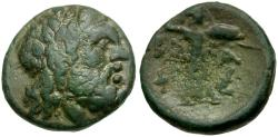 Ancient Coins - Thessalian League Æ17 / Athena Itonia