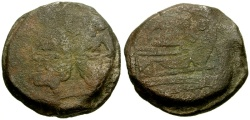 Ancient Coins - 169-158 BC - Roman Republic Anonymous Æ AS / Wolf and Twins