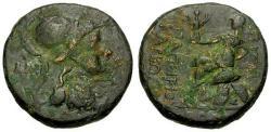 Ancient Coins - aVF/aVF Pontos Amisos Papirius Carbo Proconcul Æ20 / Roma