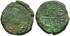 Ancient Coins - *Sear 544* Byzantine Empire. Maurice Tiberius Æ 12 Nummi